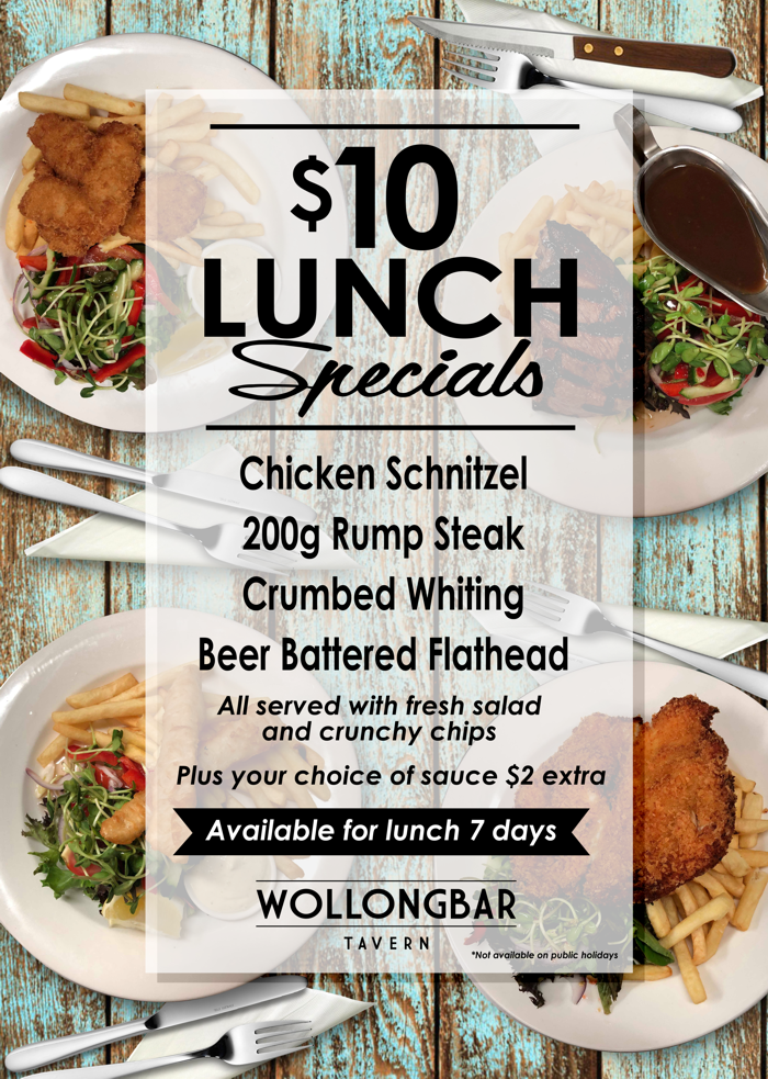 $10 Lunch Special Nov 2018
