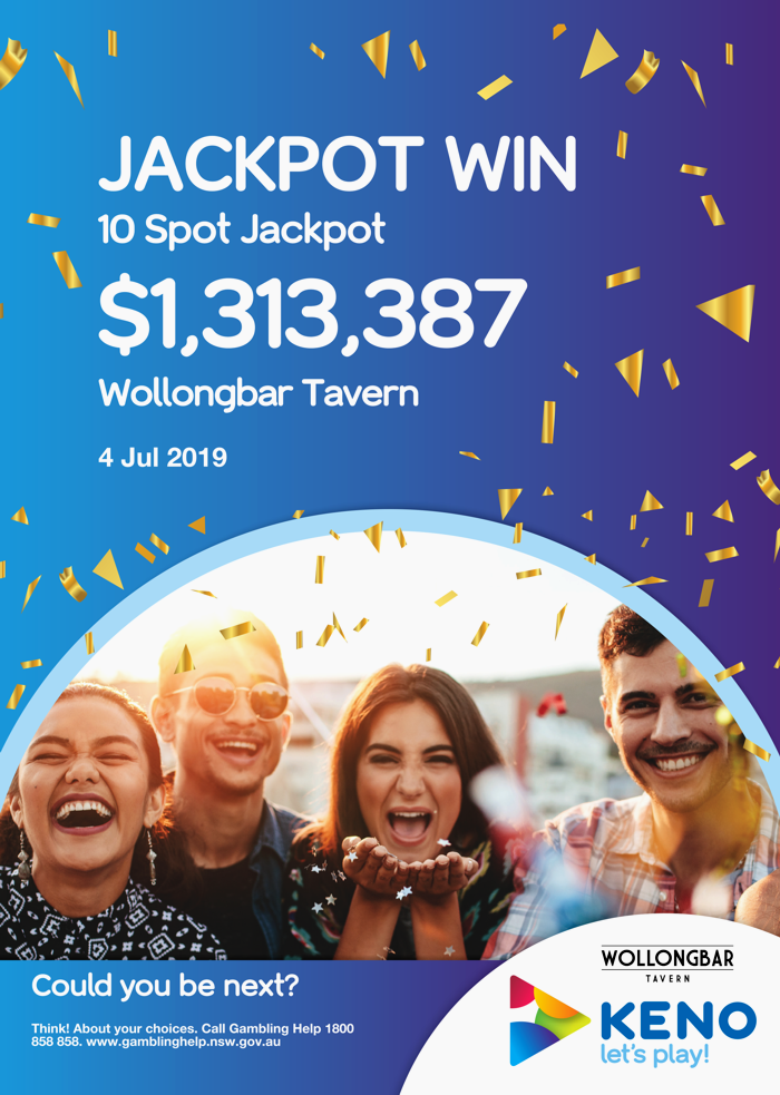 Keno Win 4th July 2019